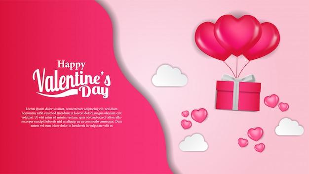 Valentine days banner template