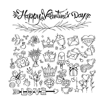 Valentine decorations and ornament, doodles & drawings