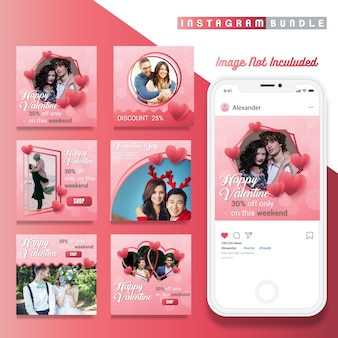 Valentine discount instagram post template