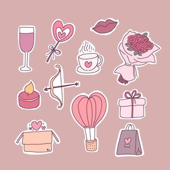 バレンタイン要素セット