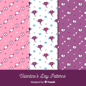 Valentine flat pattern collection