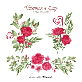 Valentine floral ornament collection