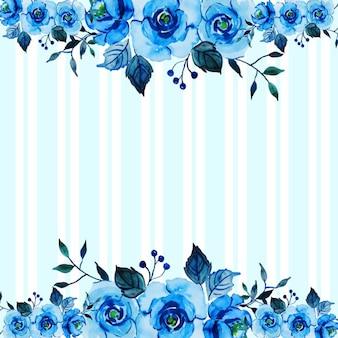 Валентина цветочные акварельные полосы фона