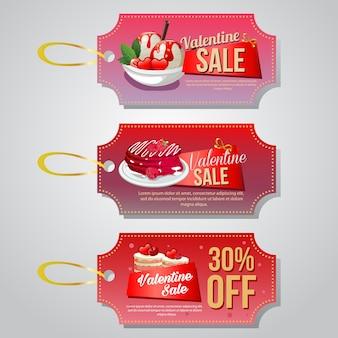 Valentine food coupon tag