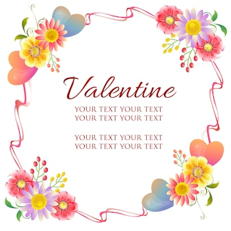 Valentine frame theme with floral ornate