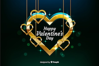Valentine golden background