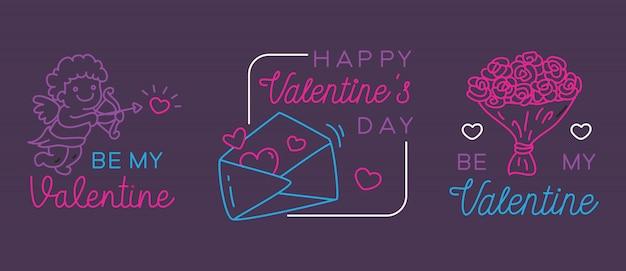 Valentine greeting badges