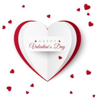 Valentine greeting card with inscription of happy valentine's day