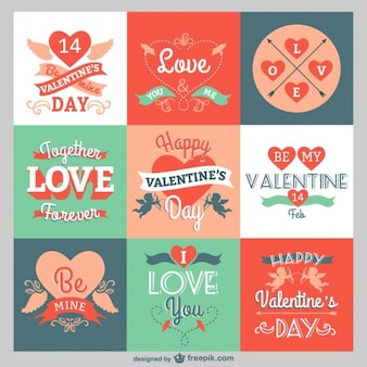 Valentine greetings pack