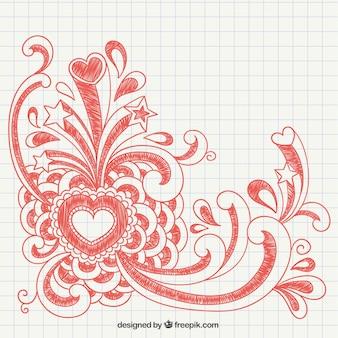 バレンタインの手が描かれました