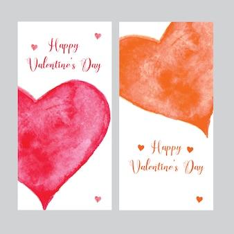 Valentine heart abstract banner design