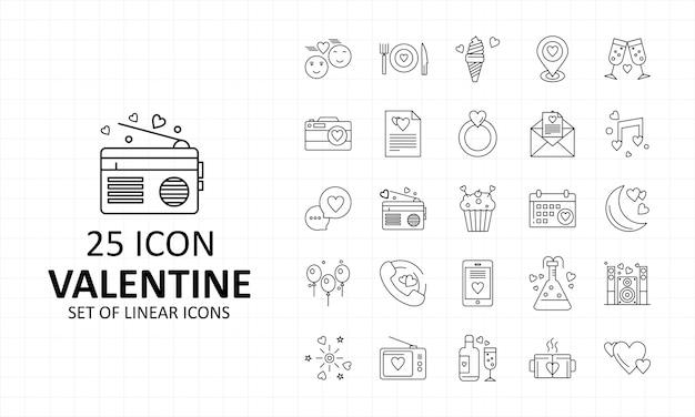 Valentine icon sheet pixel perfect icons