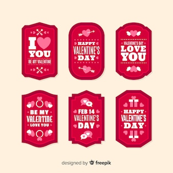 Valentine label with message pack