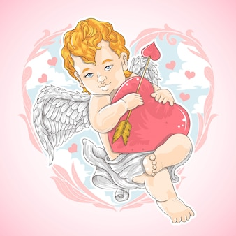 Valentine love cupid