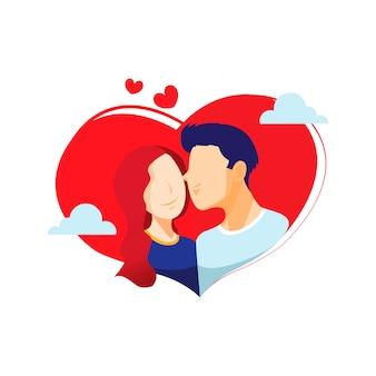 Valentine love doodle illustration