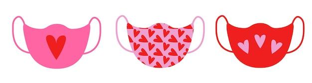 Valentine medical mask set