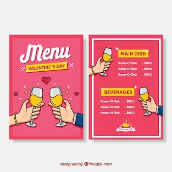 Концепция меню валентина с пивом