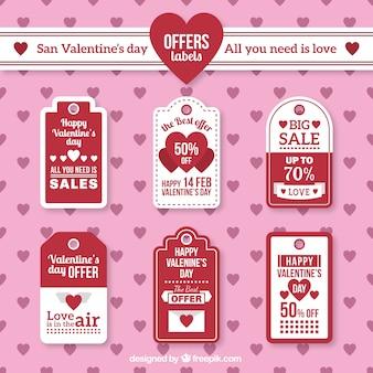 San valentino offre etichette pacchetto
