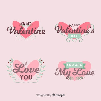 Valentine ornament heart badge collection