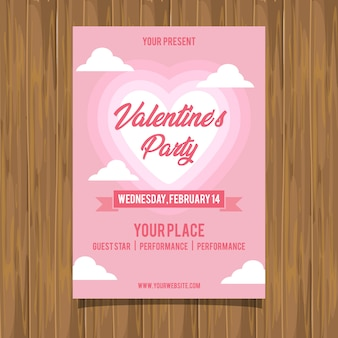 Valentine party event flyer
