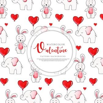 Valentine pattern background