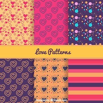 Valentine patterns pack