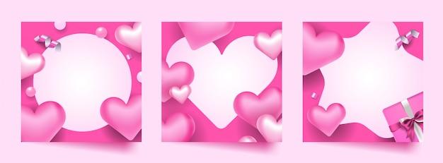 Valentine photo frame set