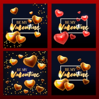 Valentine poster, card, banner letter slogan  elements for valentine's day  elements. typography love heart