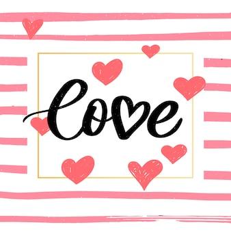 Valentine poster, card, label, banner letter slogan elements for valentine's day design elements