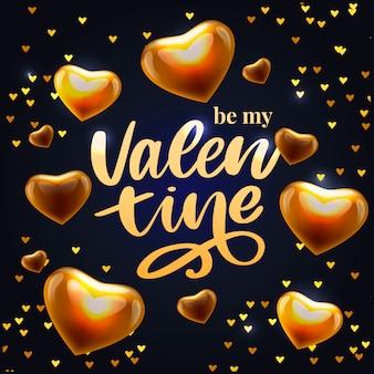 Valentine poster, card, label, banner letter slogan  elements for valentine's day  elements. typography love heart