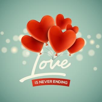 Валентина красный праздник воздушный шар шаблон поздравительной открытки