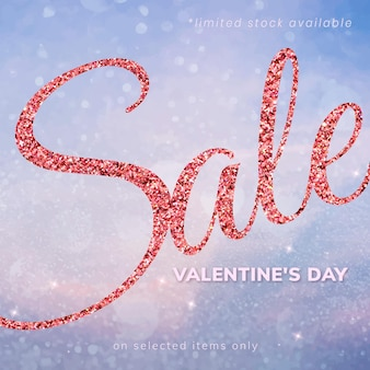 Редактируемый шаблон вектора распродажи святого валентина для публикации в социальных сетях