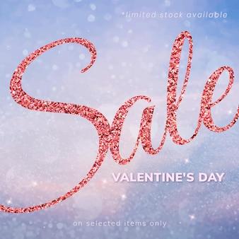 Vettore di modello modificabile di vendita di san valentino per post sui social media