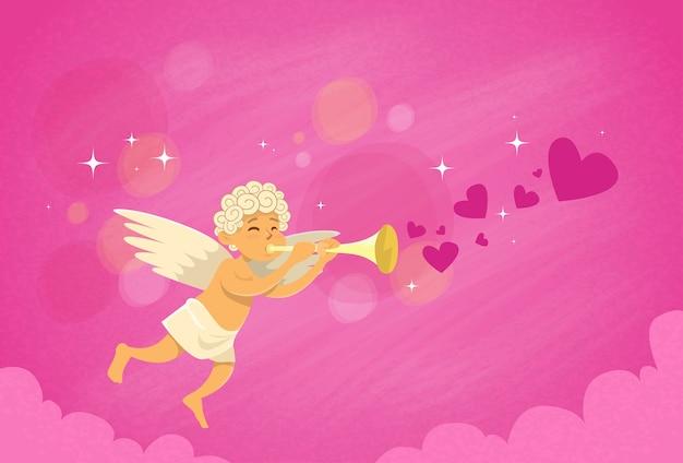 Valentine's angel cupid