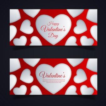 Valentine's banner designs