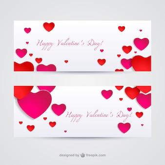 バレンタインのバナー