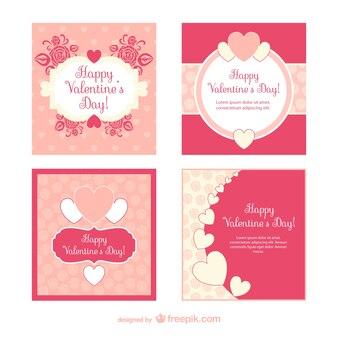 Carte pacchetto di san valentino