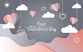 バレンタインデー2月14日ベクトル