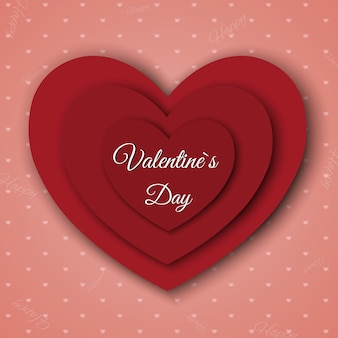 Valentine's day. abstract background with cut paper heart.