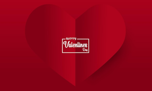 День святого валентина абстрактный фон с сердцем вырезать из бумаги.