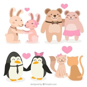 발렌타인 데이 동물 커플 컬렉션