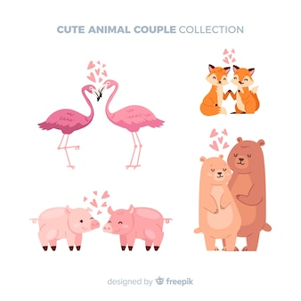 Valentine's day animals couple pack