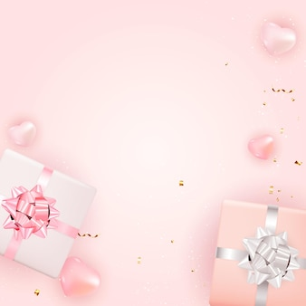 Valentine s day background design. template for advertising, web, social media and fashion ads. horizontal poster, flyer, greeting card, header for website