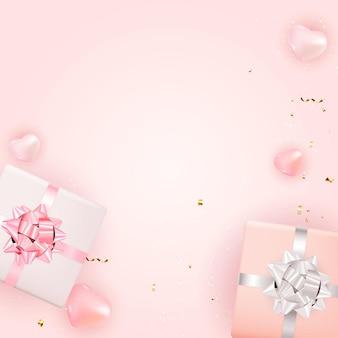 발렌타인 데이 배경 디자인. 광고, 웹, 소셜 미디어 및 패션 광고를위한 템플릿입니다. 수평 포스터, 전단지, 인사말 카드, 웹 사이트 헤더