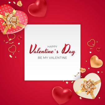 Valentine's day background design.