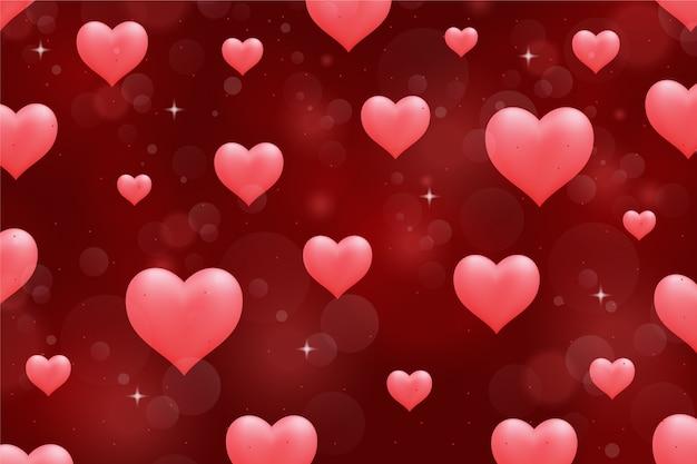 Valentine's day background in flat design