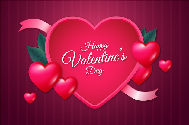 Valentine's day background realistic style