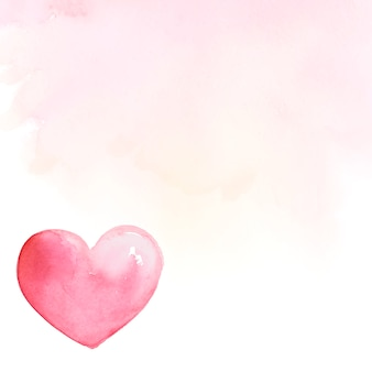 Valentine's day background watercolor style vector