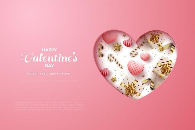 День святого валентина фон с символом любви нажал.