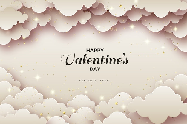 Valentine's day background with clouds and  shadows.